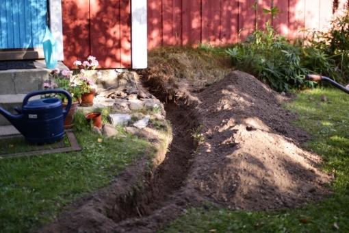grävning för hand